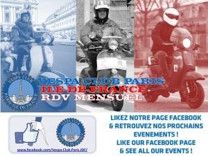 RDV Mensuel Vespa Club Paris Ile de France