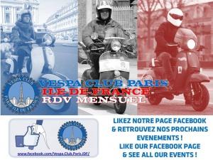 Rdv mensuel Vespa Club Ile de France
