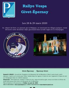 Givet-Épernay 2020 Rallye Gourmand