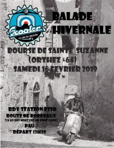 Balade Hivernale Scooter Club du Béarn